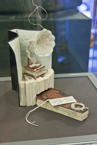 art made from old book